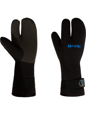 Bare 7mm K-Palm Three-Finger Mitt, Black